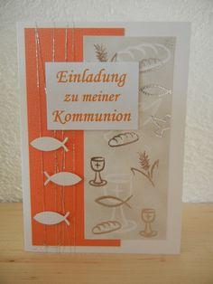 Einladungskarten - Einladung/ Einladungskarten Kommunion/Konfirmation - ein Designerstück von DaWa00 bei DaWanda