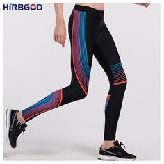 Cheap running tights, Buy Quality sport running directly from China tights running Suppliers: HIRBGOD Women Yoga Pants High Waisted Elastic Color Stripe Printed Pants Sports Running Tights Training Leggings For Gym ,HT009