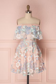 Primerose - New yesterday from Boutique 1861 - customdresses Grad Dresses, Modest Dresses, Ladies Dresses, 1861 Boutique, Pink And Blue Dress, Pink Blue, Romper With Skirt, Girly, Special Dresses