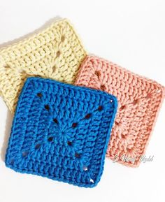Si Nanay Madel: Solid Granny Square Tutorial Here is another Granny Square Tutorial. There are so many types of granny squares. With this tutorial, I am writing a step by step procedu. Granny Square Pattern Free, Granny Square Tutorial, Crochet Square Blanket, Crochet Quilt, Granny Square Crochet Pattern, Afghan Crochet Patterns, Crochet Squares, Crochet Motif, Easy Granny Square