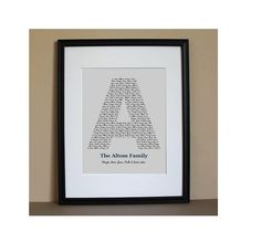 Personalized Family Monogram 8x10 Typography by BDoodlesDesigns, $16.00