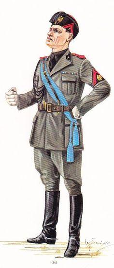 Benito Mussolini - Uniforme MVSN, pin by Paolo Marzioli
