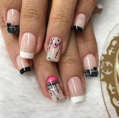Uñas fáciles Cute Pedicure Designs, Heart Nail Designs, Crazy Nail Designs, Nail Art Designs, Love Nails, Pretty Nails, Fun Nails, Cute Simple Nails, Perfect Nails