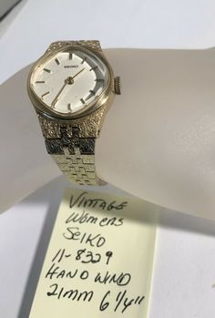 "Vintage Womens Seiko Hand Wind Wristwatch Running 11-8239 21mm 6 1/4"" #Seiko #Vintage Vintage Seiko Watches, Bracelet Watch, Running, Bracelets, Accessories, Racing, Charm Bracelets, Keep Running, Bracelet"