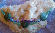 Beautiful Handmade Silver Necklace with Moss Agate Coins & Green Aventurine Moss Agate belong to the Heart Chakra and Agate alone to the Root Chakra. Moss Agate helps us to recognize our weakne…