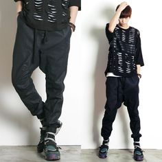 Remember Click Black Coated Jogger Pants BLACK ONE SIZE Korean Wear #RememberClick #CasualPants