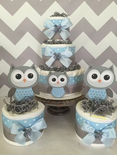 Hey, I found this really awesome Etsy listing at https://www.etsy.com/listing/461986237/set-of-3-owl-diaper-cake-centerpieces-in