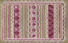 Two-Handed Stitcher: Introducing: Ribbons of Hope Needlepoint Stitches, Needlework, Embroidery Stitches, Pink Palette, Cut Canvas, Ribbon Design, Bargello, Butterfly Design, Canvas Patterns