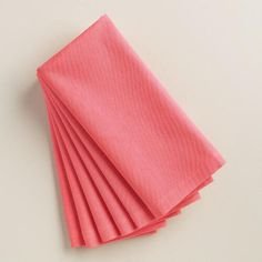 One of my favorite discoveries at WorldMarket.com: Pink Buffet Napkins, Set of 6
