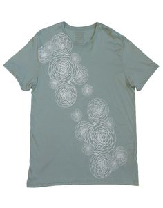 Flower Power: Hand Printed 100% Organic Cotton Original Mushpa + Mensa Design Faded Teal T-Shirt #flowers #flowerpower #organiccotton #lesbianowned #alternativeapparel #mushpamensa #mushpaymensa #mushpa #mensa #freehand #organic #flower #magic Dried Lavender Flowers, Recycle Plastic Bottles, Alternative Outfits, Teal Colors, White Ink, Friends In Love, Cotton Tee, Flower Power, Organic Cotton