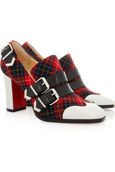 competitive price e4df1 e75c7 Christian Louboutin - Anita 85 buckled tartan pumps