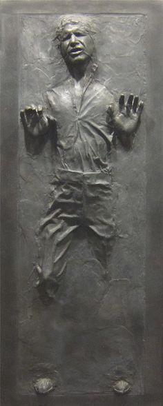 Han Solo encase in carbonite wall decal