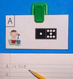 Use math journals to record addition equations while keeping your copy count low.  You will save ink/toner and copy paper.  $  #beach #kampkindergarten #summer #beachmath #dominomath #addition #addtheroom  https://www.teacherspayteachers.com/Product/Beach-Buddies-Domino-Add-the-Room-Sums-of-0-to-10-1166922