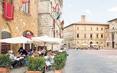 Montepulciano's best hotels and restaurants, and information on how to reach   the Tuscan town.