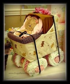 How to: Baby Diaper Carriage. Great for Baby Showers!