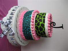 Animal Print Zebra Cake for my daughters 13th Birthday