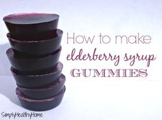 This is an easy recipe on how to use elderberry syrup to make gummies to help keep our immune systems happy and healthy during cold and flu season.