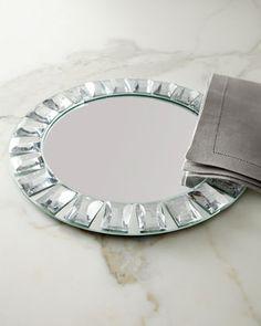 Jeweled Mirror Charger Plate at Horchow.