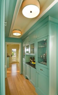 Love the color in hallway