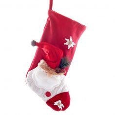 Set of Two Natural Linen Christmas Stockings with Stag Designs ...