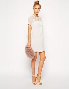 BNWT ASOS Swing Cream Lace Chiffon Short Wedding Bridesmaid Summer Boho Dress #dress #ebay #Asos #trend #fashion #style #sale #party #ootd #dressup #deals #vintage #summer #lace