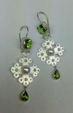 """Galnz und Gloria-Collection"" 2014, Earrings  - handmade Jewelry by Nicole Bolze ORIGINALS"