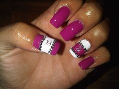 Pink and White Chanel Nail Design. Those are my next nail for shure lovee itt