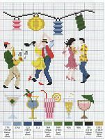 free cross stitich pattern - dance