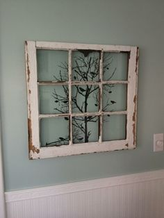 design old windows ideas decorating for best recycled on window frame wall decor idea Deco Champetre, Diy Casa, Deco Originale, Window Art, Room Window, Faux Window, Dining Room Walls, Old Doors, Home Projects