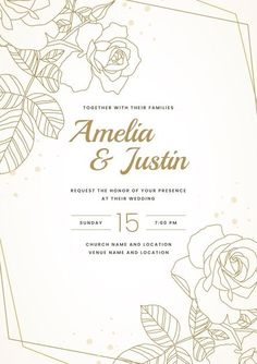 Download this Free Vector about Hand drawn golden wedding invitation template, and discover more than 15 Million Professional Graphic Resources on Freepik. #freepik #wedding #weddinginspiration #weddinginvitation #weddingcard #invitation #weddinginvitationtemplates #weddinginvitationdesign #weddinginvitationdiy #weddinginvitationvector #weddinginvitationcarddesign Wedding Invitation Card Design, Minimalist Wedding Invitations, Save The Date Invitations, Simple Wedding Invitations, Wedding Invitation Templates, Wedding Stationery, Minimal Wedding, Wedding Cards, Vector Free