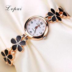 Lvpai Brand Luxury Crystal Gold Watch