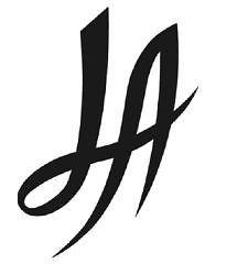 LA Script Logo Vinyl Decal Sticker california sports los angeles 092