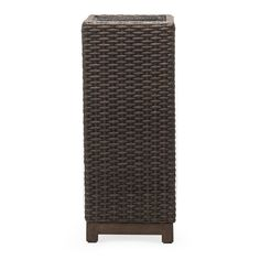 The Belham Living Rhen Wicker Tall Planter Box gives your new outdoor setting an option for clean, green accessories. This deep square planter box. Planters Around Pool, Tall Outdoor Planters, Outdoor Decor, Tall Planter Boxes, Square Planter Boxes, Lawn Equipment, Outdoor Settings, Garden Pots, Flower Pots