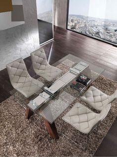 ShopArreda » Tavolo Caronte 654, piano cristallo