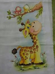 Resultado de imagen para bebés safari, para pintar em tecido