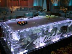 Risultato immagini per custom pool table made of ice Basement Remodel Cost, Basement Remodeling, Crazy Pool, Custom Pool Tables, Pool Table Room, Pool Remodel, Glass Pool, Ice Art, Billiards Pool