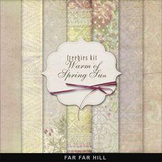 Far Far Hill: Freebies Spring Background