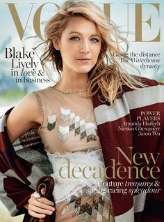 Bohemian Style| Serafini Amelia| Blake Lively for Vogue Australia November 2014