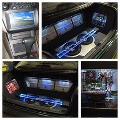 Windows PC in a Honda Accord. custom car stereo trunk install JL Audio amp guts custom pc built gamer led.