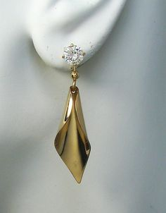 Earring Jackets for Studs 14K Gold Filled Dangle Calla by earcuffs, $45.00