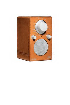 Leather wrapped radio, for the music-loving dad