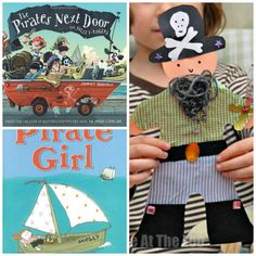 Great books about PIRATE GIRLS and a pirate craft to go with it. Harrharrr.