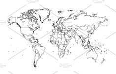 World map orange with borders by teagraphicdesign on world map vector white color with borders jpg eps 10 file gumiabroncs Image collections