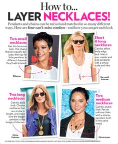 Love the layered necklaces trend!