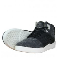sports shoes 1592d 0c8c0 Supra Skytop III S07019 Mens Mid Top Trainers SS12 Black Distressed Canvas  available at www.