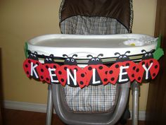 High chair party decorations