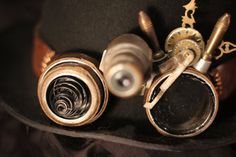 Steampunk Magnifying Goggles FOR SALE by ArcheDeKatze.deviantart.com on @DeviantArt