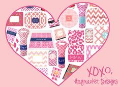 Haymarket Designs, Hand Painted and Monogrammed Embellishments for the Home--such cute stuff!