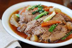 Slow cooker beef bulgogi / www.koreanbapsang.com