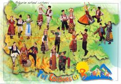 WORLD, COME TO MY HOME!: 0505 BULGARIA - Map and traditional costumes 1. Sofia region 2. North-western region 3. Middle Danube plain 4. North-eastern region 5. Thracian lowland 6. South-eastern region 7. Eastern region 8. South-western region 9. Rodopi district
